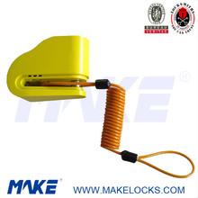 MK617-5 disc key system anti theft bike alarm padlock