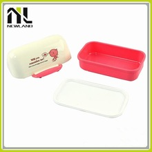 2015 PP Two-Sides Locking custom whole sale japanese plastic kids lunch box container
