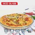 ronda de vidrio pyrex placa de la pizza