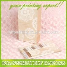 (BLF-PB553) No handle paper bag light color printed eco bag