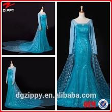 New design elsa dress beautiful frozen elsa dress wholesale / frozen princess elsa costume