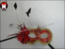 2015 meet Halloween dress up props new high-end decorative flower cocktail feather flower mask carnival masks