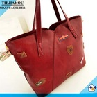 China product lady leather shoulder bag with iphone case wholesale