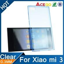 (Acego) Guangzhou clear mobile phone cover for xiaomi mi3