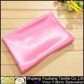 de moda elástica de color rosa brillante blusa de satén tela