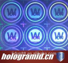 2015 Aliababa new arrival 2D Dot Matrix Laser Holographic Sticker high quality 3D Custom Hologram Sticke