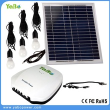 15W Panel solar home system kit with 6Ah lithium ion battery/3pcs 2W LED bulb/USB cable