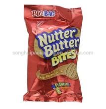 Food service butter bites packing bag/ Mid-seal snack bag / Plastic cookie bag