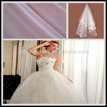 nylon spandex 4 way stretch soft breathable bridal mesh fabric