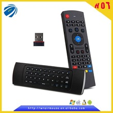 2.4GHz wireless remote keyboard mini air fly mouse for android tv box