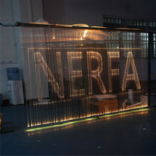 new designed logo Fibre Curtain for Restaurants window light from guangdong province manufacturer