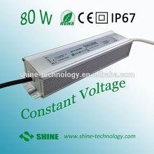 High quality ac input dc output led power supply, 24v class ii led driver 80w with alu case