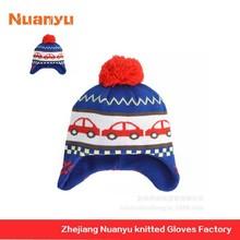 Cartoon Knit Hat Patterns / Knit Ski Hat / Knit Beanie Hat Pattern For Kids