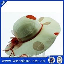 Fashion Polka Dot Print Straw Beach Hats Long Brim Summer Sunhat