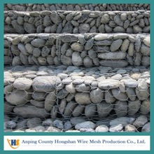 Retaining Wall Metal Wire Mesh Gabion Box/stone cages/low price Galvanized and pvc coated steel wire gabion stone basket