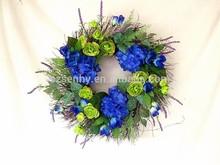 Nice Design Decorative Wreath Royal Blue Artificial Flowers