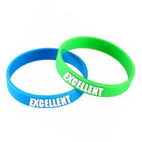 elegant wrist bands silicone rubber hot sale