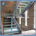 L - forma de la escalera / barandilla de escalera de cristal / helado vidrio templado escalera