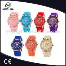 Wholesale Alibaba Geneva Silicone Jelly Watch