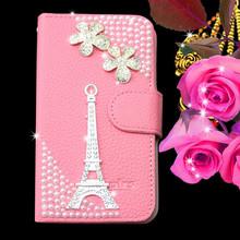 Hot sale luxury leather bling diamond case for nokia lumia 920
