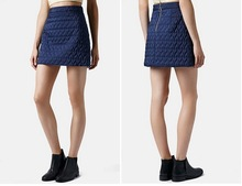 Dongguan clothing manufacturer OEM cute lady heart quilted A-line skirt