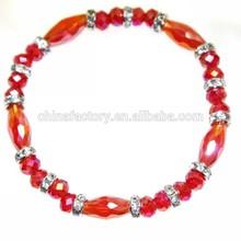 2015 Stock Wholesale Nature Stone Crystal Bead Elastic energy bracelet