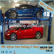Mutrade 4 post lifting mechanical multilevel car stack