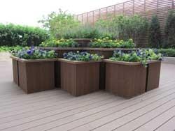 Coowin UV-Resistance Outdoor WPC Flower Pot