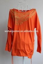 new design ladies cotton tunic fashion tunic