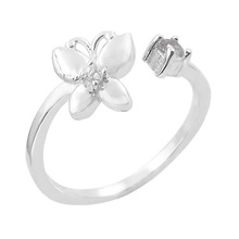 New Arrival wholesales 925 sterling silver children's butterfly open Ring on alibaba website