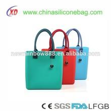 Fashion New fashion design popular flexible silicone handbag totes shopping bag shoulder bag