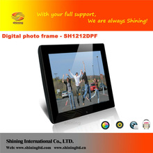 12 inch electronic picture frames with sd / mmc / ms / xd memory card slot