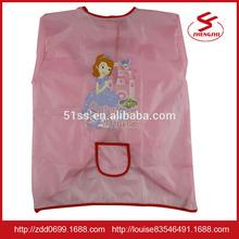 Cute cartoon children waterproof apron Painting breathable garments