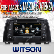 WITSON auto radio dvd gps for MAZDA 6 ATENZA 2014 WITH A8 CHIPSET 1080P V-20 DISC WIFI 3G INTERNET DVR SUPPORT