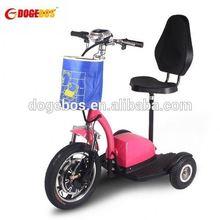 350 w / 500 w bateria de lítio motorizada de scooter 3 rodas scooter elétrica stand up scooter com suspensão dianteira