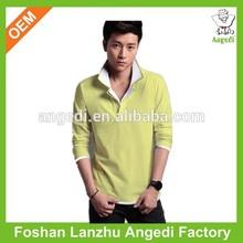 long sleeve polo collar design blank 100 cotton t shirts