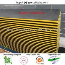 Ultra-High Molecular Weight Polyethylene plate/ single rubber faced uhmwpe sheet /U-PE board