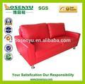 Red sofá de couro conjunto, jardim sofa conjunto, brilhante colorido sofá de couro conjunto
