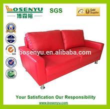 Sofá de cuero rojo conjunto, jardín sofá set, de colores brillantes de cuero sofá conjunto