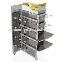 Designer unique expanded metal shelf