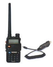 BAOFENG UV-5R UU 136-174/400- 520MHz VHF/UHF two way radio+Car charger cable
