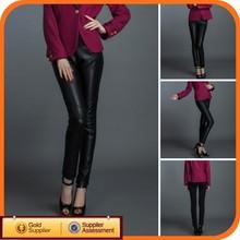 Hot Sale Black Fashion Sexy Girls Leather Pants