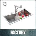 304 cucina lavelloin acciaioinox con tavoli di lavoro
