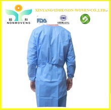 2014 High Quality fire retardent Nonwoven Medical Surgical Clothes