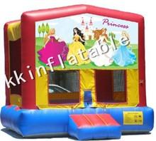 Best Design CE Standard 0.55mm pvc tarpaulin princess inflatable bouncer