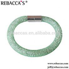 Pink colors bracelet elephant jewelry bracelet top fashion mesh magnetic bracelet