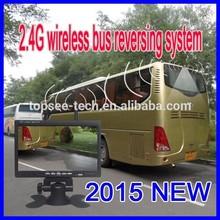 24V wireless nightvision bus back up camera system 7 inch monitor + truck camera