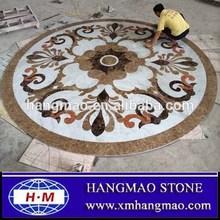 Flooring medallion water jet marble designs