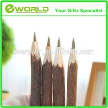 Wholesale Custom logo Log wood ballpoint pen