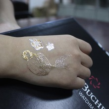 gold metallic finished fake flash tattoo